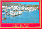 Marina at Long Island NY  Postcard cs1348