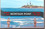 Montauk Point Long Island NY  Postcard cs1349
