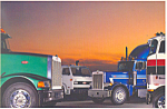 Click here to enlarge image and see more about item cs1357: Peterbuilt Trucks No Compromise Postcard