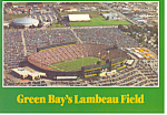Green Bays Lambeau Field Postcard cs1358