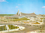 Click here to enlarge image and see more about item cs1404: National Gymnasium, Tokyo Olympics 1964 Postcard