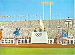 Click here to enlarge image and see more about item cs1405: Opening Ceremony, Tokyo Olympics 1964 Postcard