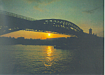 Click here to enlarge image and see more about item cs1408: Sunset over Moscow River, Russia Postcard