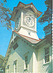 Click here to enlarge image and see more about item cs1446: Acacia Trees ,Clock Tower, Sapporo, Japan Postcard