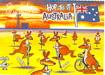 Click here to enlarge image and see more about item cs1468: Hop To It Australia Postcard