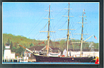 Ship Joseph Conrad at Mystic Seaport CT Postcard cs1477