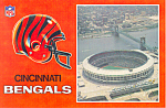 Riverfront Stadium Cincinnati Ohio Postcard cs1483
