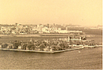Aerial View of Ellis Island New York Postcard cs1487