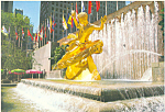 Prometheus Statue Rockefeller Center NY Postcard cs1490