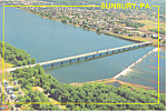 Aerial View Sunbury PA Postcard cs1495