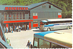 Click here to enlarge image and see more about item cs1544: Klondike Hotel, Skagway Alaska Postcard Vintage Bus