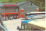 Click here to enlarge image and see more about item cs1544: Klondike Hotel Skagway Alaska Postcard cs1544 Vintage Bus
