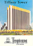 Tiffany Tower Tropicana Hotel Las Vegas NV Postcard cs1546