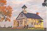 Amish One Room Schoolhouse Postcard cs1556