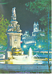 Click here to enlarge image and see more about item cs1580: Prado Walk Fountain of the Shells Madrid Spain  Postcard cs1580