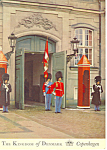 Click here to enlarge image and see more about item cs1583: The Royal Guard on Amalienborg Copenhagen Denmark  PC cs1583