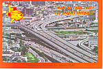 Click here to enlarge image and see more about item cs1661: World Famous Freeways Los Angeles CA Postcard