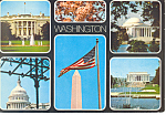 Multi Views Washington DC Postcard cs1766
