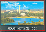 Lincoln Memorial Washington DC Postcard 1988