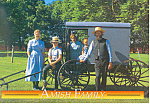 Amish Family with Buggy Postcard