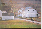 Amish Farm in Winter Postcard cs1797