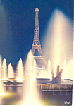 Paris, France Eiffel Tower Postcard