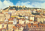Click here to enlarge image and see more about item cs1851: St George Castle, Lisbon, Portugal Postcard