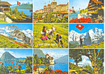 Nine Views, Switzerland Postcard
