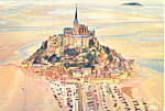 Le Mont Saint Michel, France Postcard 1970