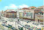 Lisbon Portugal Restaurant Square Postcard cs1896  Old Cars