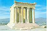 Athens Greece,Temple of Wingless Victory Postcard