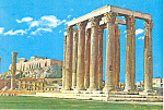 Athens Greece,Temple of Olympius Zeus Postcard