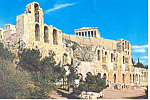 Athens Greece, Odeon of Herodes Atticus Postcard