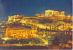 Athens Greece,The Acropolis by Night Postcard