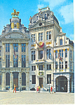 Click here to enlarge image and see more about item cs1942: Market Place, Brussels, Belgium Postcard