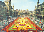 Click here to enlarge image and see more about item cs1945: Market Place Brussels Belgium Postcard cs1945
