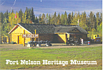 Click here to enlarge image and see more about item cs2008: Fort Nelson Heritage Museum  BC Canada Postcard cs2008 2001