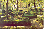 Click here to enlarge image and see more about item cs2035: A Formal Garden,Williamsburg, VA Postcard