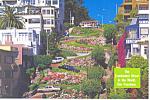Lombard Street,San Francisco, CA Postcard 1997