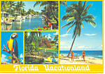 Florida Vacationland Four Views  Postcard cs2054