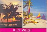Boating Beaches Key West Florida  Postcard 2001