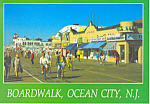 Boardwalk at Tenth St.,Ocean City, New Jersey  Postcard