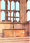 Coventry Cathedral The Charred Cross UK Postcard cs2101