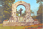 Click here to enlarge image and see more about item cs2126: Johann Strauss Memorial, Vienna , Austria Postcard 1972