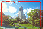 Catholic Chapel Holy Trinity West Point  NY Postcard cs2143