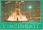 Cincinnati Ohio Fountain Square Postcard
