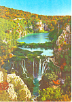 Click here to enlarge image and see more about item cs2161: Waterfalls Of Plitvice Lakes Croatia Postcard cs2161