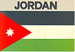 Click here to enlarge image and see more about item cs2175: Flag of Jordan, Postcard