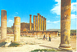 Click here to enlarge image and see more about item cs2179: Arthemes Temple, Jerash, Jordan, Postcard