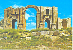 Click here to enlarge image and see more about item cs2181: Amman Triumphal Gate Jerash Jordan Postcard cs2181